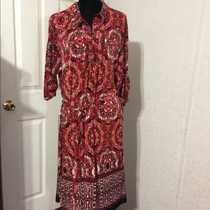 Mlle Gabrielle Red Dress Size 3X